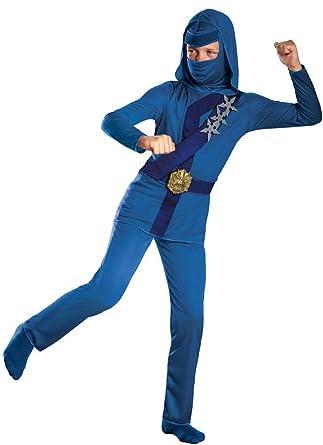 Ninja Costume - Shadow Night Fury Blue Thunder Ninja (Small (4/6))
