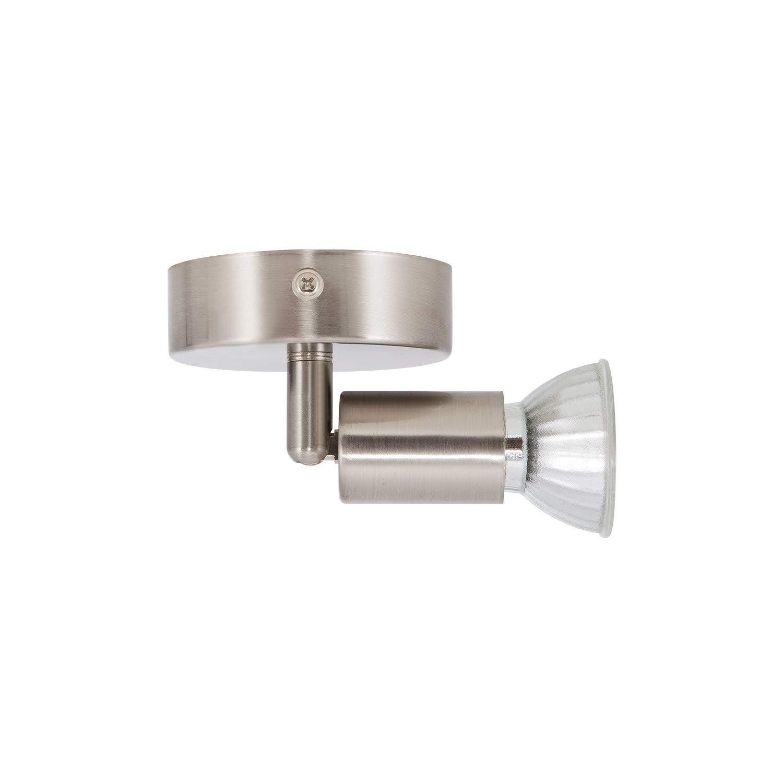 Aplique Orientable Oasis 1 Foco Plata con Interruptor Plata efectoLED