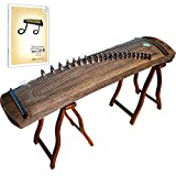OrientalMusicSanctuary Improved Professional Performers' All- Paulownia Travel Guzheng - INCLUDES ENGLISH TUTORIAL BOOK WITH DVD