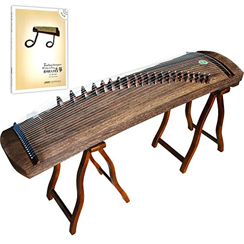 OrientalMusicSanctuary Improved Professional Performers' All- Paulownia Travel Guzheng - INCLUDES ENGLISH TUTORIAL BOOK WITH DVD by OrientalMusicSanctuary