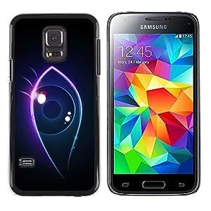 Caucho caso de Shell duro de la cubierta de accesorios de protección BY RAYDREAMMM - Samsung Galaxy S5 Mini, SM-G800, NOT S5 REGULAR! - Neon eye