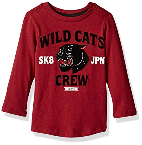 Crazy 8 Baby Boys Long Sleeve Graphic Tee, Berry Wild 18-24 mo