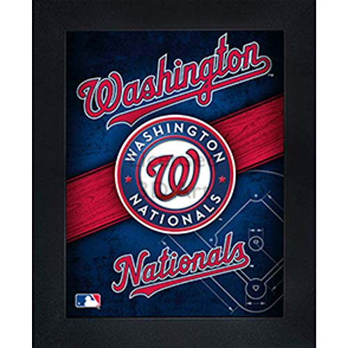 Washington Nationals 3D Poster Wall Art Decor Framed Print | 14.5x18.5 | Lenticular Posters & Pictures | Memorabilia Gifts for Guys & Girls Bedroom | MLB Baseball Sports Team Fan Poster for Man Cave