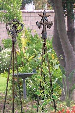 Iron Natural Victorian Keys 58'' Garden Trellis - Raw Metal by IronWorks (Image #1)