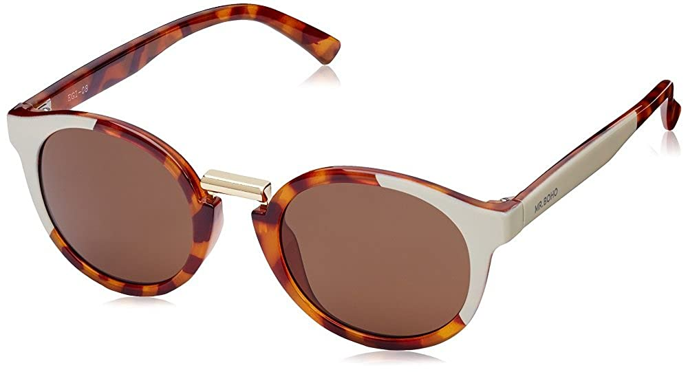 MR.BOHO, Cream/leo tortoise fitzroy with classical lenses - Gafas De Sol unisex multicolor (carey), talla única: Amazon.es: Ropa y accesorios