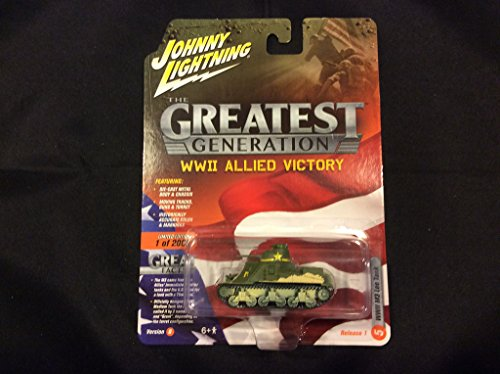 Johnny Lightning Greatest Generation WWII Allied Victory Ver B M3 Lee Tank ()