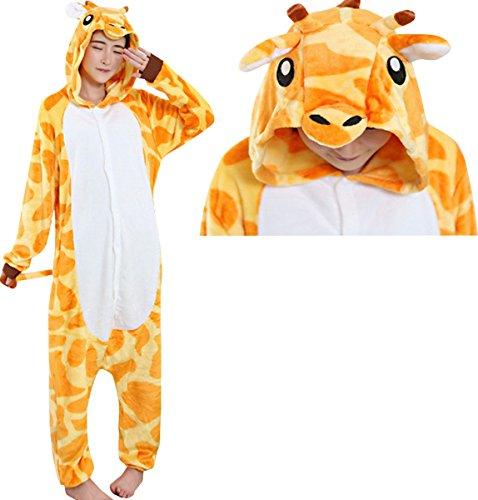 JudyBridal Unisex Anime Giraffe Onesie Adult Pajamas Cosplay Costume Halloween S (Anime Halloween Costume)