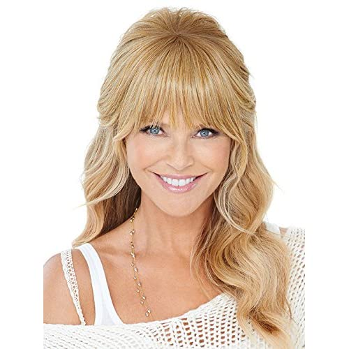 Natural Fringe Clip In Bangs by Christie Brinkley Heat Friendly Hairpiece - HT10