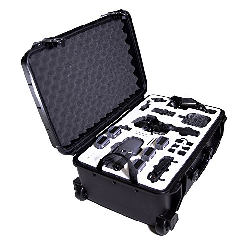 DJI Mavic Pro & DJI Osmo Hard Case by Drone Crates – Rolling, Dual Layer, USA, Military Grade, Hardshell, Waterproof, Shock Absorbing, Crush Proof, Fits DJI Drone & Gimbal Black Carrying Case