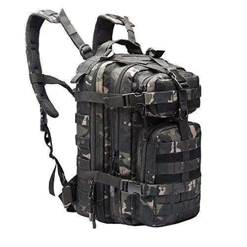 ARMYCAMOUSA Military Tactical Backpack, Small 3 Day Army Molle Assault Rucksack Pack for Outdoors, Hiking, Camping, Trekking, Bug Out Bag & ()
