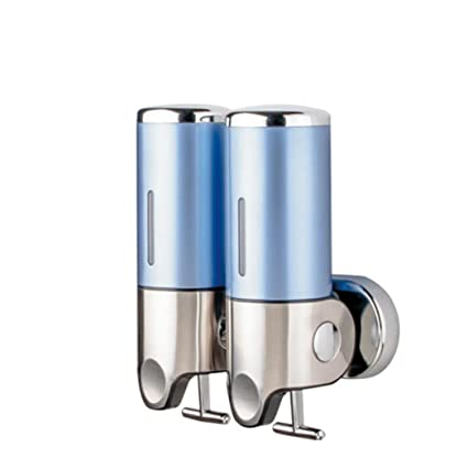 Dispensador de jabón de baño, baño de montaje en pared 304 de acero inoxidable Caja