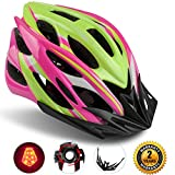 Basecamp Specialized Bike Helmet with Safety Light,Adjustable Sport Cycling Helmet Bicycle Helmets for Road & Mountain Motorcycle for Men & Women,Youth Safety Protection (RoseYellow-BigLight) Review
