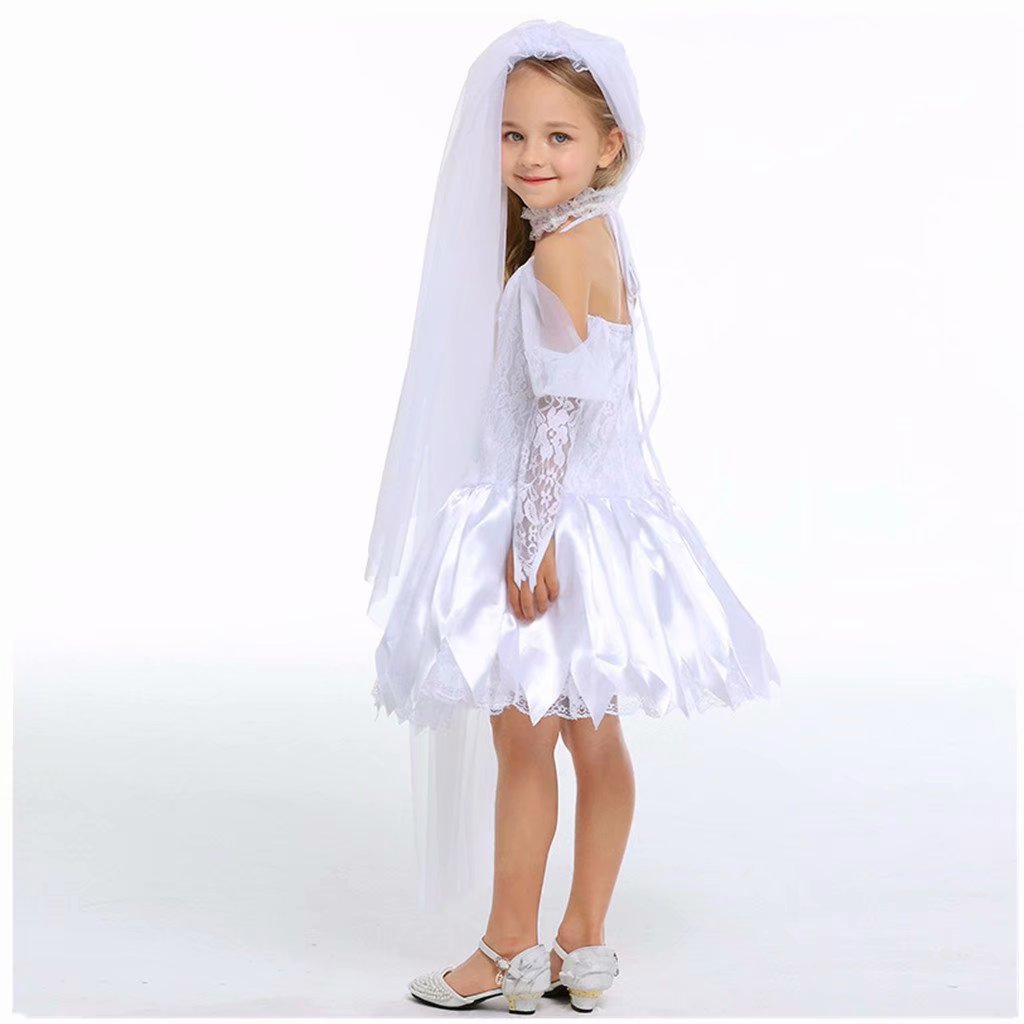Girls Ghost bride Halloween Cosplay Costume Wedding Party Dress by Tsyllyp (Image #4)
