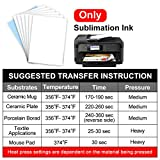 Sublimation Paper Heat Transfer Paper 100 Sheets