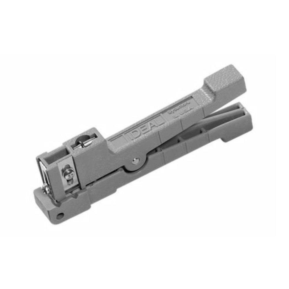 Ideal 45-162 Coaxial Cable Stripper, Up to 1/8'', 3.2mm O.D, Gray