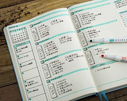 ZEBRA MILDLINER Highlighter pen markers, 5-Pack (WKT7-5C / WKT7-5C-NC / WKT7-5C-RC / WKT7-N-5C / WKT7-5C-HC) 25 Color Full Range Set with Original vinyl pen case by ZEBRA MILDLINER (Image #6)