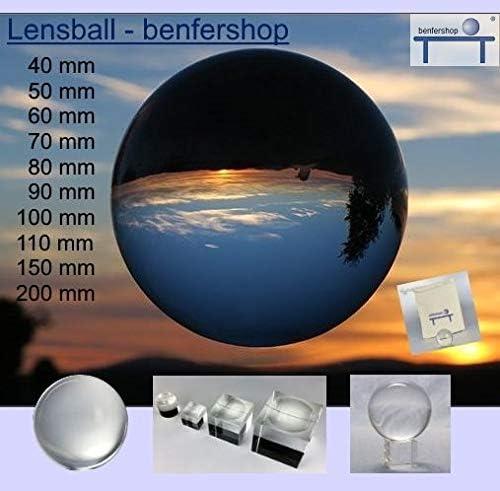 Lensball Glaskugel Wahrsagerkugel Glaskugel in Fotografenqualit/ät Gr/ö/ße 150 mm optisch rein Kristallglaskugel