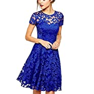 Xoemir Women's Sexy Lace Clubwear Party Skirts Cocktail Summer Prom Skater Dress