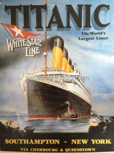 1/8 Sheet ~ Titanic World's Largest Liner Birthday ~ Edible Cake/Cupcake Topper!!!