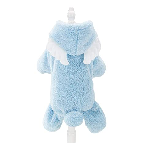 6f6aba0d6 Spring Fever Dog Cat Cute Cozy Costume Coral Fleece Warm Winter Hooded Coat  Angel L