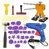 HITSAN 35pcs PDR Car Body Dent Repair Kit Hammer Puller Glue Gun Balance Bridge Scraper One Piece