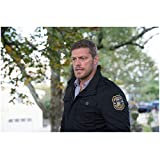 Haven Adam Copeland as Dwight Hendrickson in Haven Police Department Jacket Tree Background 8 x 10 inch photo