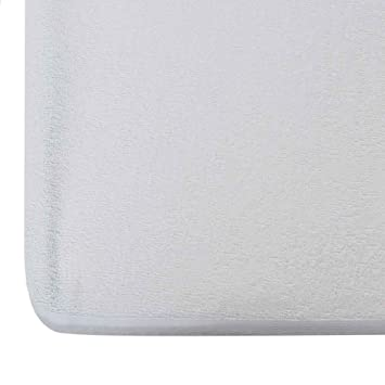 Wakefit Water Proof Terry Cotton Mattress Protector - 78 x 72, King Size, White