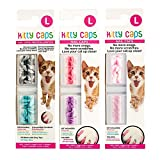 Kitty Caps Nail Caps for Cats in Assorted Colors - Large | Safe Alternative to Declawing - Stops Snags and Scratches
