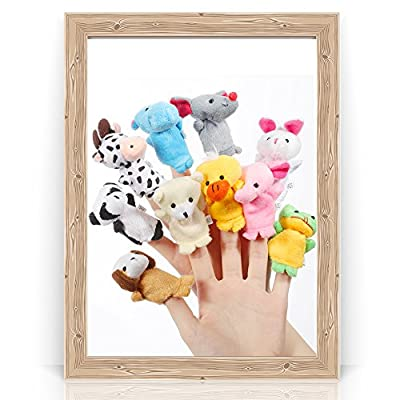 Alician 16pcs Cartoon Animal Plush Finger Puppets Set Cute Dolls for Children, Story Time, Shows, Playtime, Schools 10pcs: Toys & Games