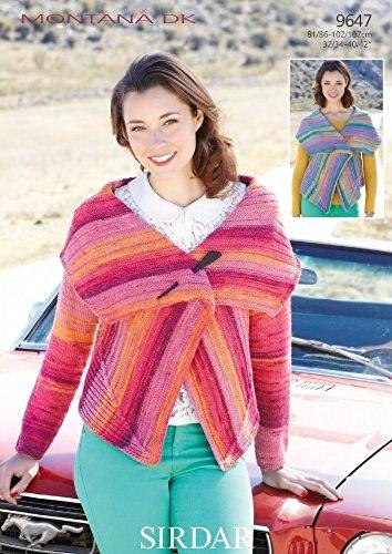 65a827a07 Sirdar Montana DK Women s Waterfall Jacket Knitting Pattern 9647  Amazon.co. uk  Kitchen   Home