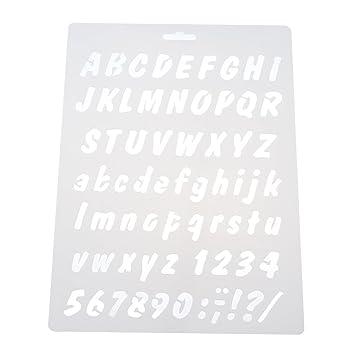 Panpa Zahlen Hohl Zeichnen Schablonen Malen Vorlage Kuchen Printing