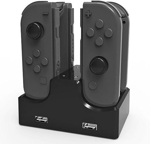 KEESIN Nintendo Switch Charging Dock 4 en 1 Joy-Con soporte de carga con LED Indicación de Nintendo Switch Controller: Amazon.es: Videojuegos