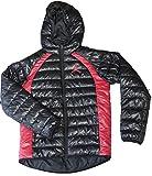 NIKE Air Jordan Boys Youth Hooded Puffer Jacket, Black/Red - XLarge