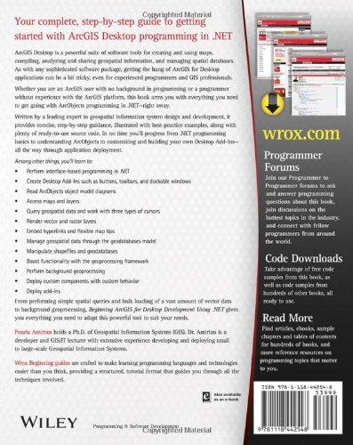 Beginning ArcGIS for Desktop Development using  NET: Pouria