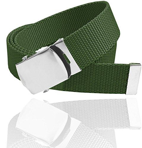 Olive Genuine Belt (LUNA Premium Cotton 45