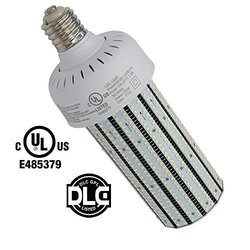 Caree-LED 400Watt Metal Halide Replacement LED 120w Corn Bulb E39 Mogul Base Pole Street Light 5000K Daylight White Parking Lot Lighting 110v 120v 220v (120Watt ()