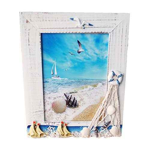 Child Photo Frame - Gorse Wooden Photo Frame Sea Gull Decorative Lateral Picture Frame Study Children Room Random Sail 5