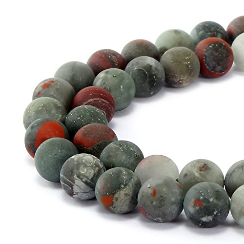BRCbeads Gorgeous Natural Africa Red Jasper Gemstone Smooth Matte Round Loose Beads 8mm Approxi 15.5 inch 45pcs 1 Strand per Bag for Jewelry Making