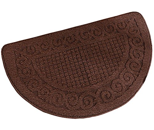 ZebraSmile Semicircle Retro Home Entrance Doorway Mat Door Mat Entry Doormat Entryway Half Moon Door Mat Door Carpet For Bedroom Indoor Halfmoon Mat Non Slip Back 15.7 X 24IN (Half Round Door Mats)
