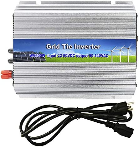 iMeshbean New 600W Walt MPPT Grid Tie Solar Power Inverter 22 60V DC Input Pure Sine Wave