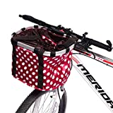 Wustrious Bike Basket, Small Pet Cat Dog Carrier Front Removable Mountain Bicycle Handlebar