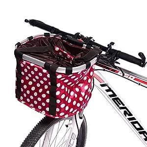 Wovemster - Cesta para Bicicleta con Soporte Frontal, Plegable ...