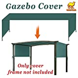 Strong Camel 18' x 8.3' Universal Replacement Canopy Top Cover for Pergola Structure (Green)