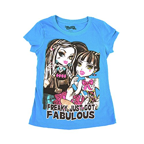 Monster High Freaky Just Got Fabulous Youth Turquoise Blue T-Shirt (Youth X-Large 14/16) ()