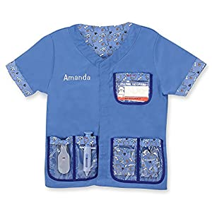 Melissa & Doug Personalized Veterinarian Role Play Costume Dress Up Set (9 Pieces)