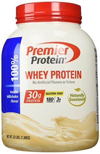Premier Protein Whey Powder, Vanilla Milkshake, 3 Pound