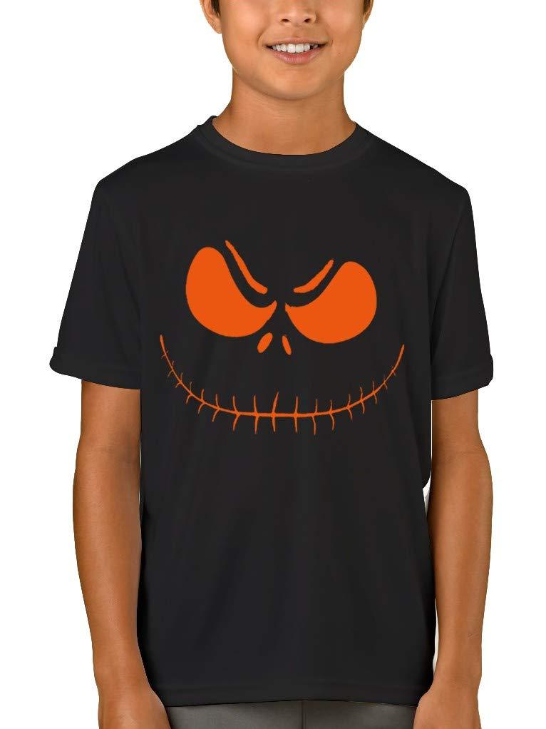 Jack O' Lantern T-Shirt for Boy Halloween Printed Tee Crew Neck Top Short Sleeve 14