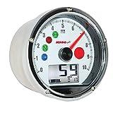 Koso BA035W00 White TNT-01 Multifunction Speedometer