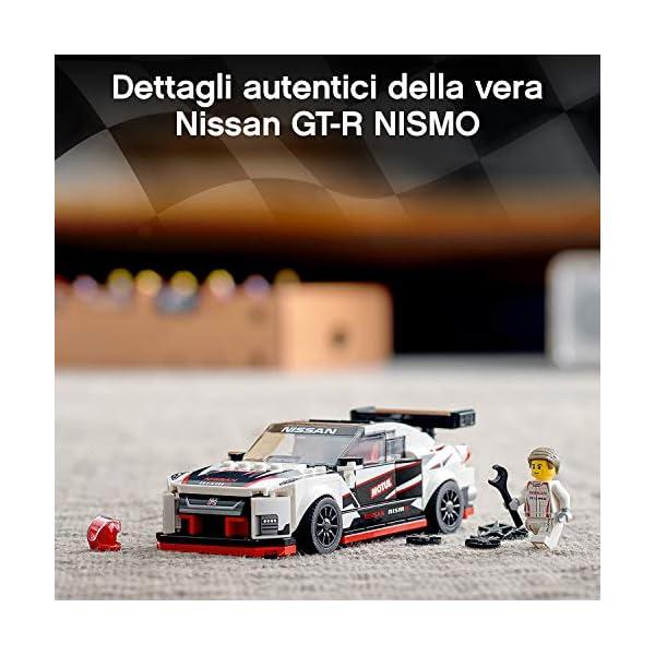 LEGO Speed Champions Nissan GT-R NISMO con Minifigure, Modello Realistico e Molto Dettagliato della Famosa Auto Sportiva… 4 spesavip