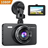 "Dash Cam, Crosstour 1080P Car DVR Dashboard Camera Full HD with 3"" LCD Screen 170°Wide Angle, WDR, G-Sensor, Loop Recording and Motion Detection"